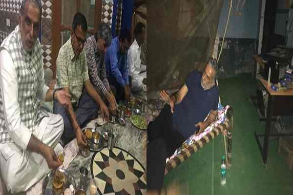 minister-krishan-pal-gurjar-dinner-at-dalit-hindu-in-hodal-gudrana-news