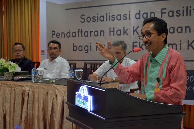 Berkaf Gratiskan Pendaftaran HKI Bagi Pelaku Ekonomi Kreatif di Banda Aceh