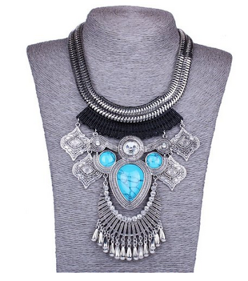 bohemian necklace under $10, bohemian statement necklace