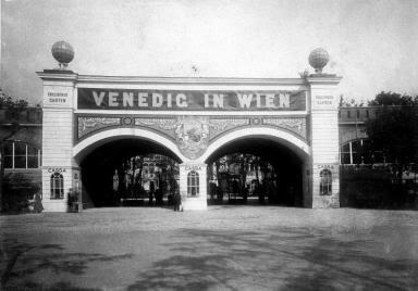 Cancello d'ingresso del parco veneziano viennese