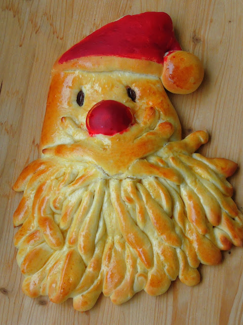 Santa claus Brioche Bread, Santa Claus Shaped Brioche