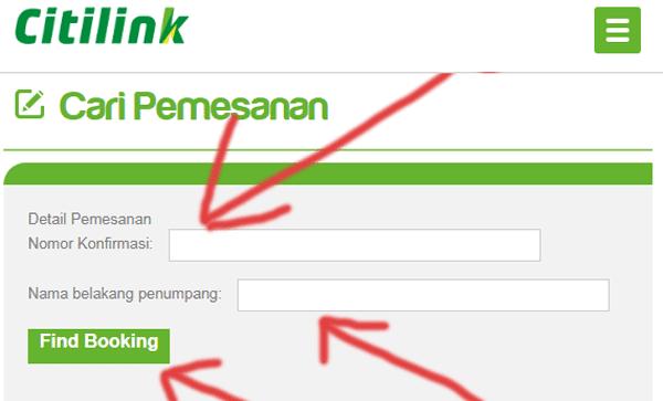 cek pemesanan tiket atau cara mengetahui kode booking