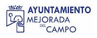 Logo del Ayuntamiento de Mejorada del Campo, texto y escudo