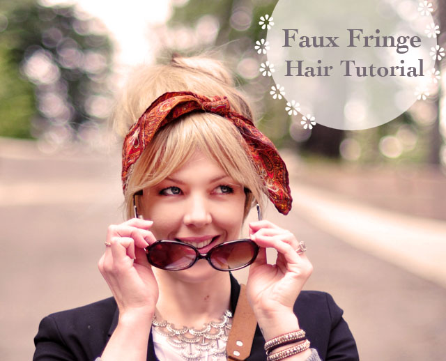 faux fringe hair tutorial, get the look of bangs without cutting your hair