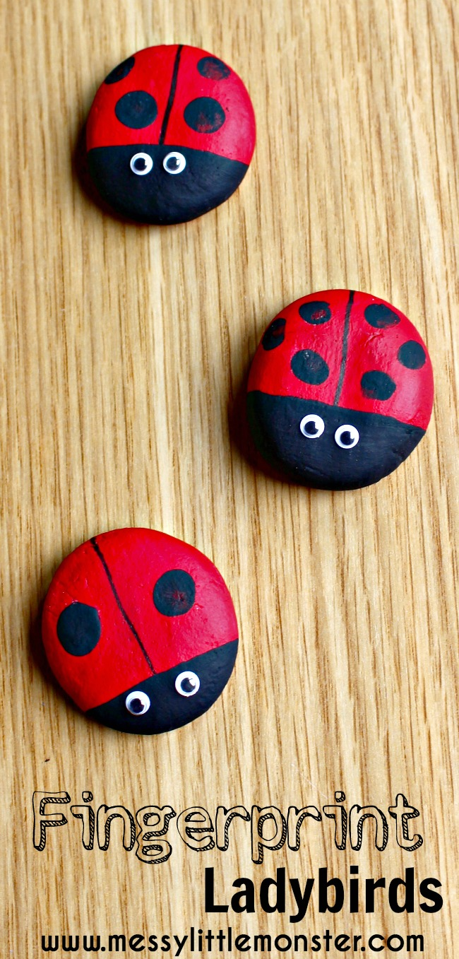 Make fingerprint ladybird keepsake magnets from a simple salt dough recipe. A homemade gift idea for kids, toddlers and preschoolers. Perfect for spring, summer, bug projects.