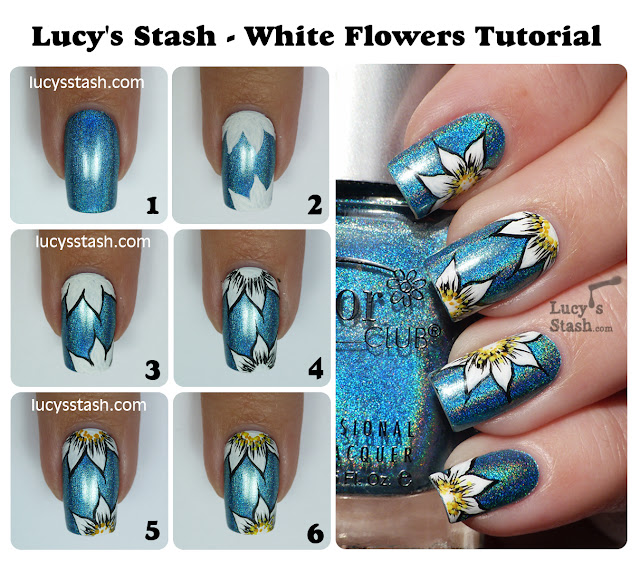 Lucy's Stash - Floral nail art tutorial