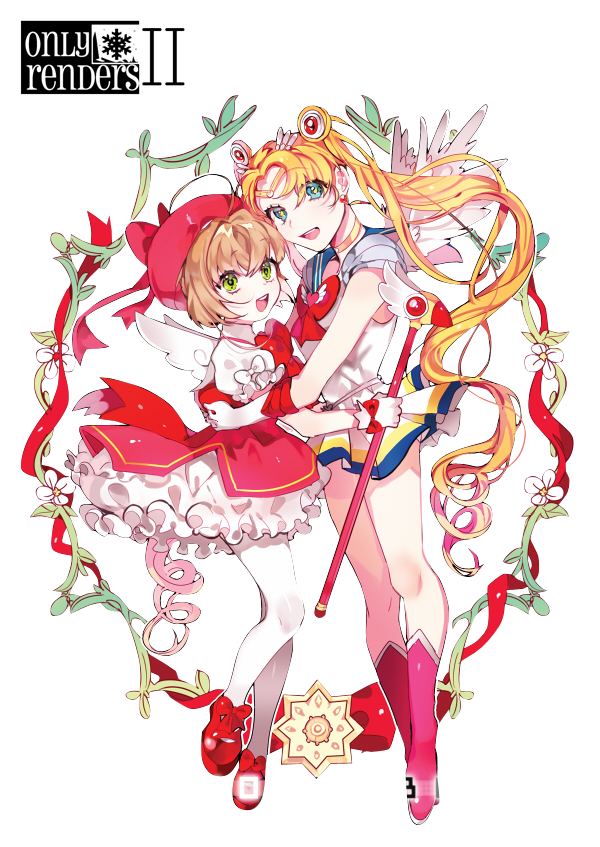 render Sakura Kinomoto,Sailor Moon/Usagi Tsukino/Bunny Tsukino/Serena Tsukino