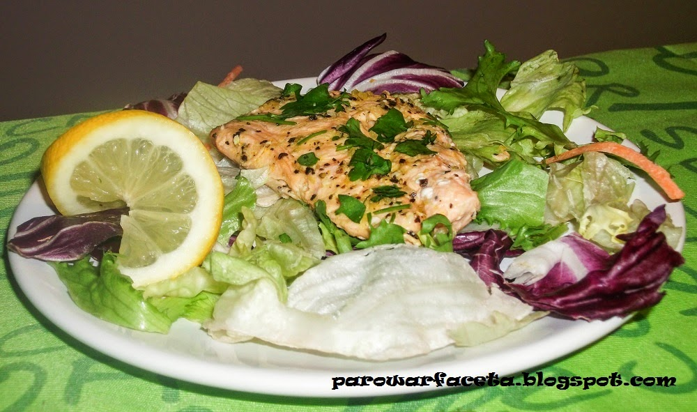 przepis na danie z łososia w parowarze