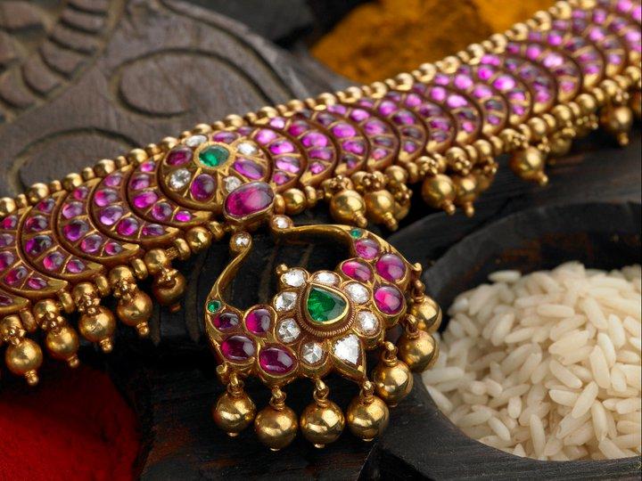 Burmese Ruby Jewellery By Arnav Indian Jewellery Designs