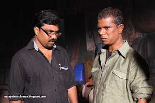 on the sets of Pottas Bomb malayalam