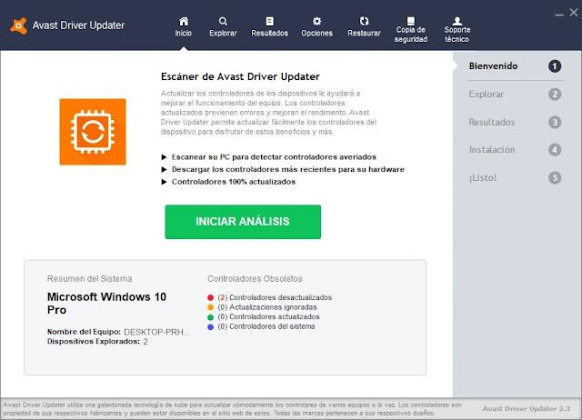 Avast Driver Updater imagenes