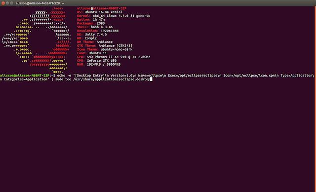 Criando atalho no Ubuntu via terminal