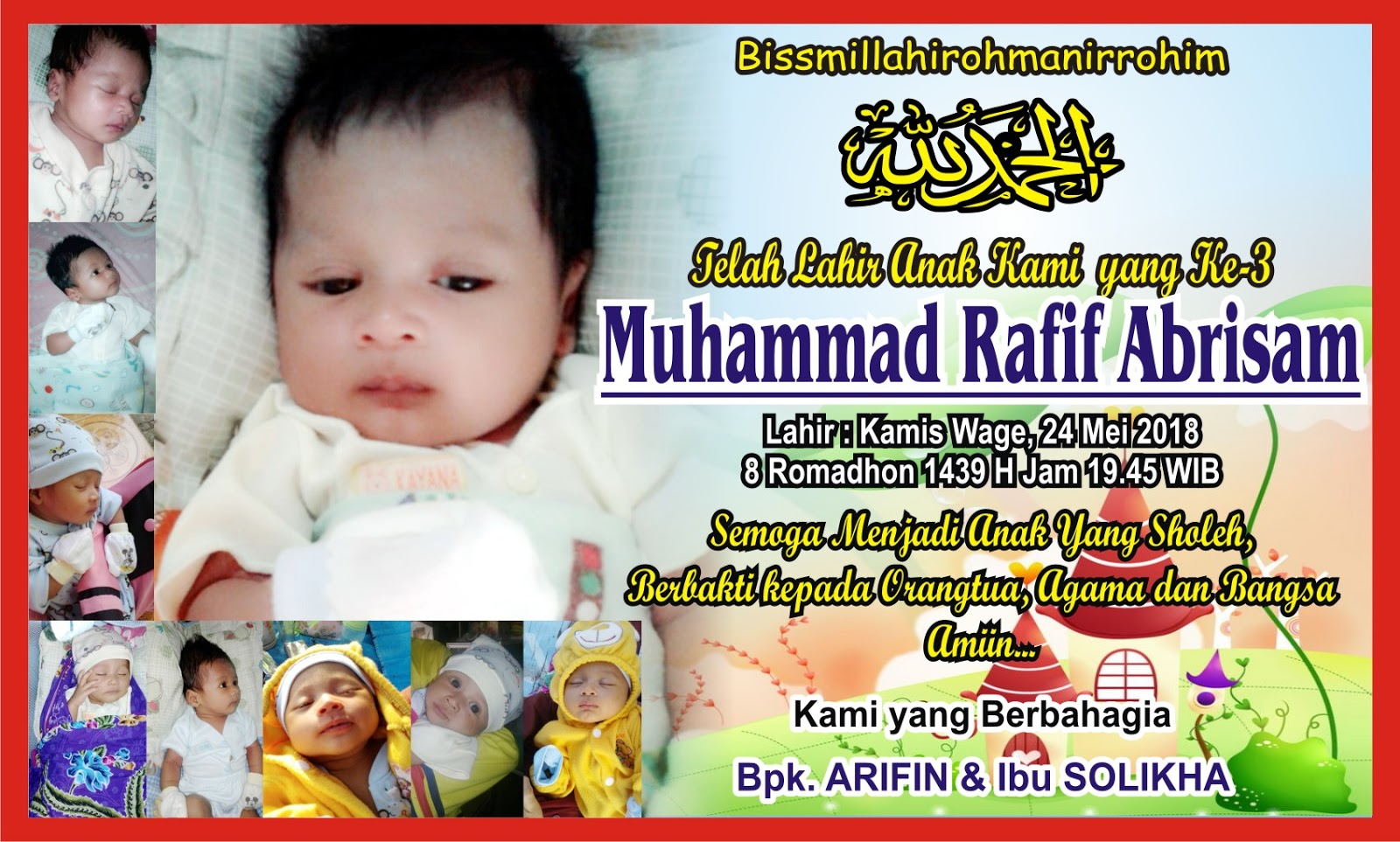 Contoh Banner Nama Bayi Walimatut Tasmiyah