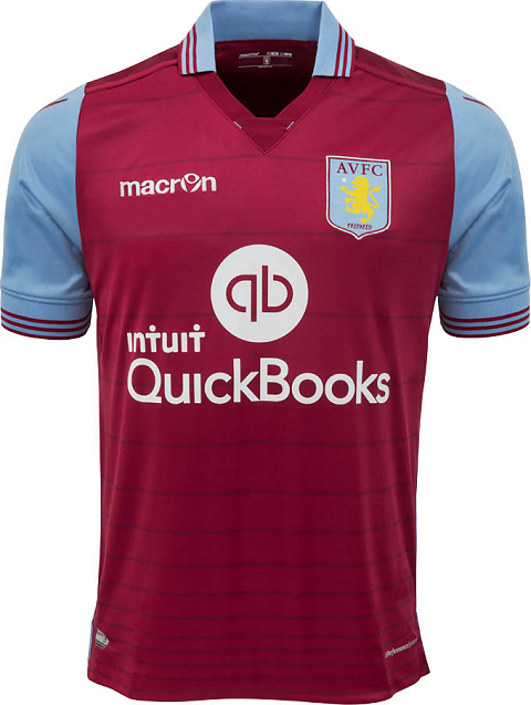 new arrivals c971e a04b2 Macron Aston Villa 2015/16 Football Jerseys