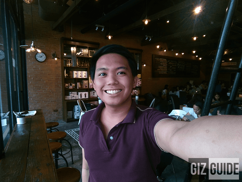 Wide angle selfie, the widest on midrange yet