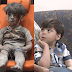 Before and after photo of Syrian boy covered in blood from bombing in the war in Syria