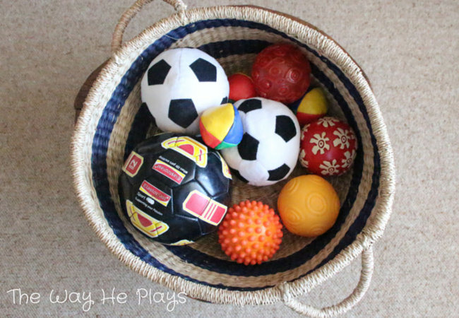 Balls Treasure Basket