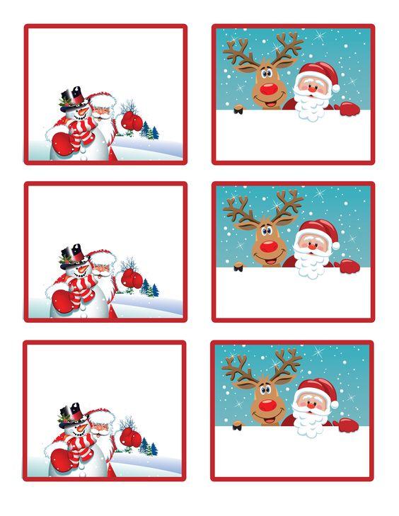 Artesanato Natalino Etiquetas Coloridas De Natal Para Imprimir