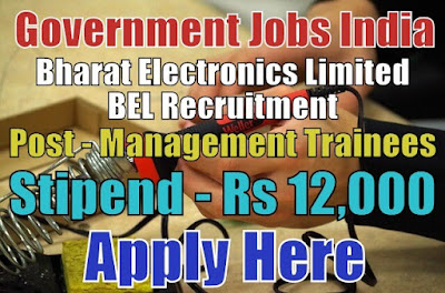Bharat Electronics Limited BEL Recruitment 2018