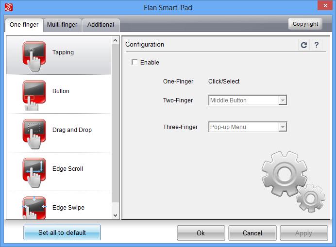 ELAN Touchpad Driver (Windows 10 v1607) - SP77337 exe