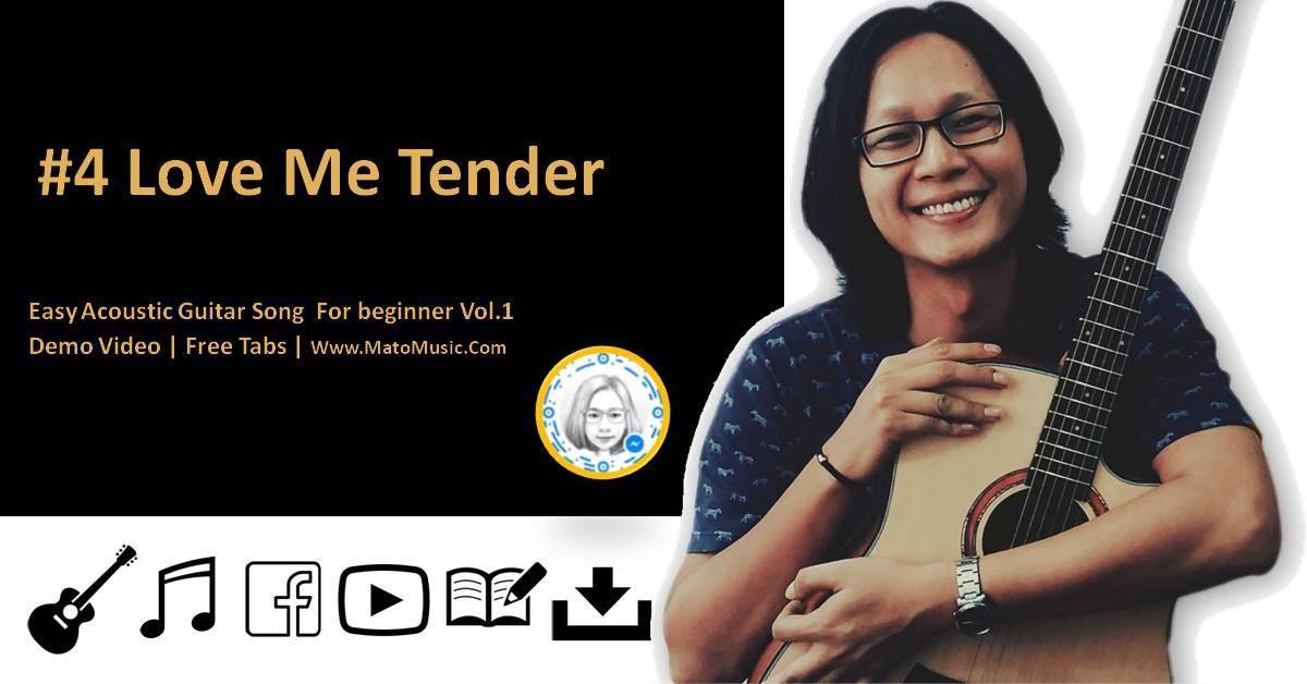Love Me Tender Acoustic Guitar Tabs For Beginner | Video | Tabs