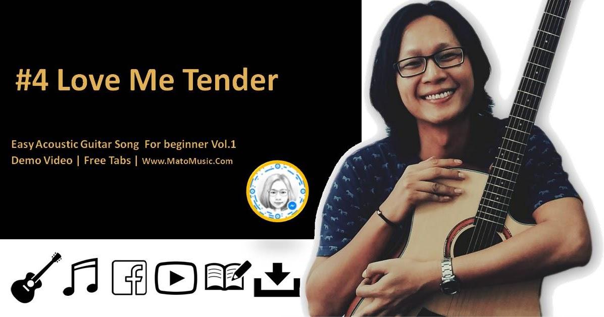 Love Me Tender Acoustic Guitar Tabs For Beginner Video Tabs