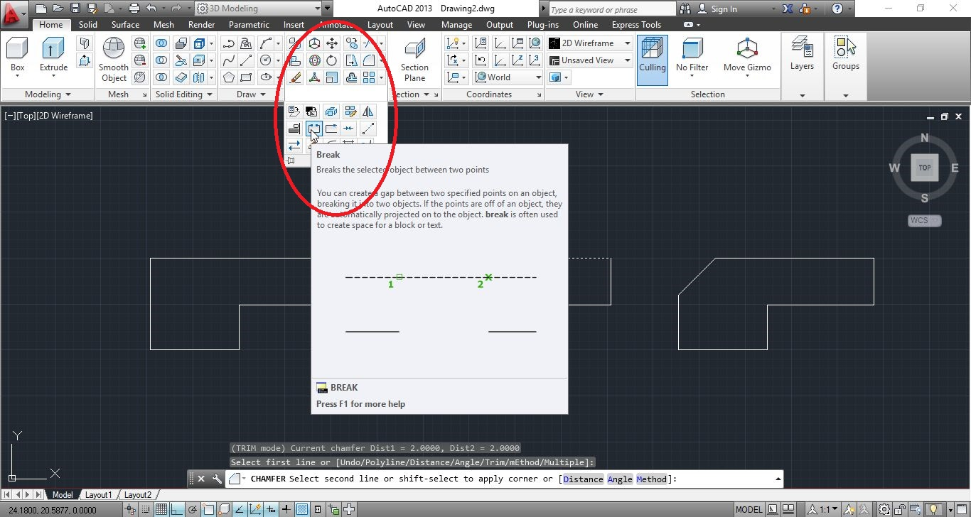 Drawing Lines In Autocad Using Coordinates : Autocad advanced editing commands