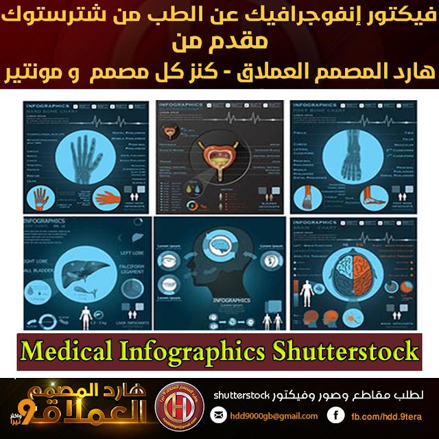 تحميل فيكتور إنفوجرافيك عن الطب من شترستوك -  Medical Infographics Shutterstock