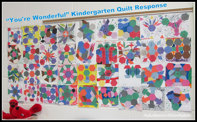 photo of: Kindergarten Bulletin Board Group Collaboration in Preparation of Author-Illustrator School Visit with Debbie Clement