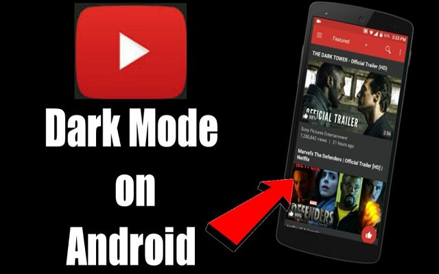 YouTube dark theme on Android without root or modified APKs