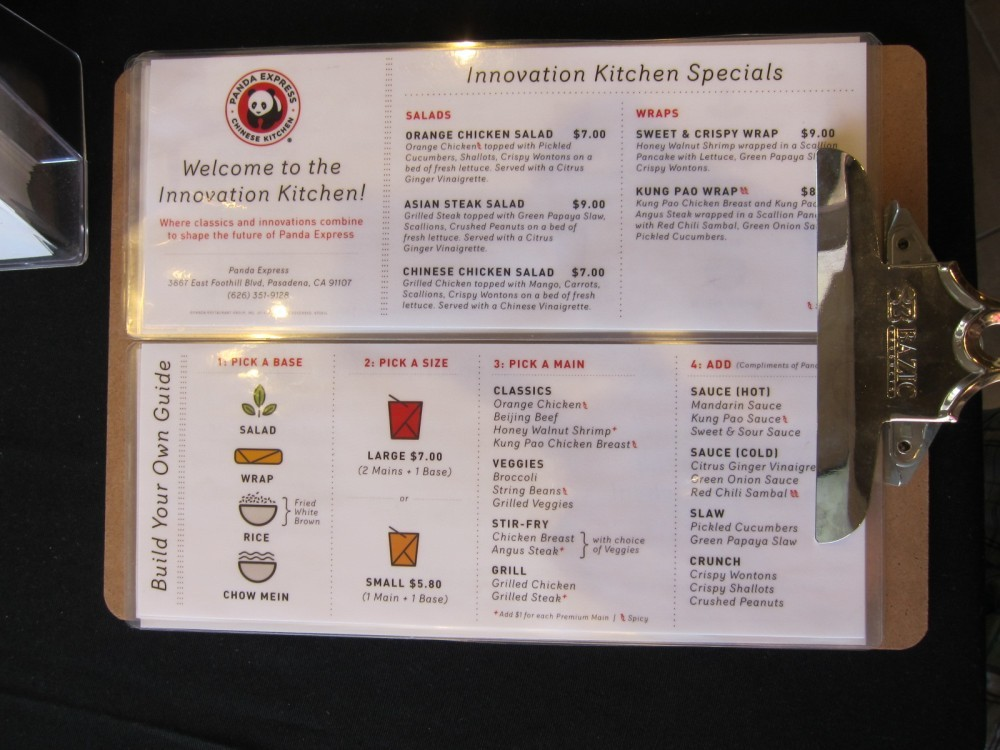 New Kitchen Take Out Menu