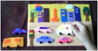 Mainan anak flanel playboard di kota