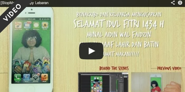 video stop motion lebaran liburan