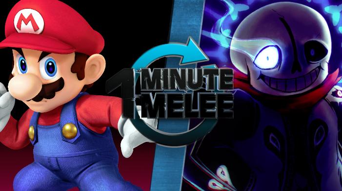 future blogs one minute melee mario vs sans