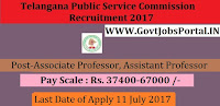 Public Service Commission Recruitment 2017–Associate Professor, Assistant Professor