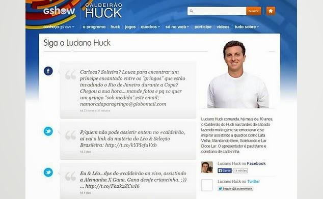 Resultado de imagem para luciano huck nas redes sociais