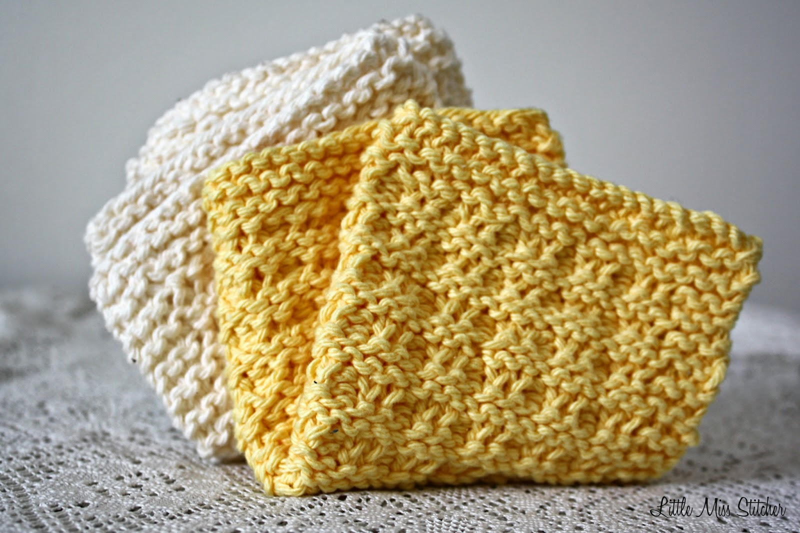 Little Miss Stitcher: 5 Free Knit Dishcloth Patterns