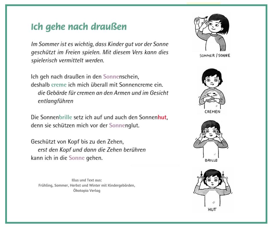 Fingerspiel Fur Den Sommer Kindergebarden Babyzeichensprache