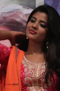 Actress Aishwarya Rajesh Pictures in Red Salwar Kameez at Dharmadurai Pressmeet  0005