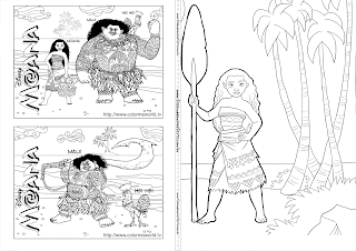 Moana: Free Printable Coloring Book.