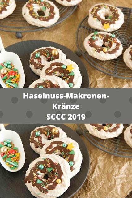 Haselnuss-Makronen-Kränze - Rezept von Der Kuchenbäcker| SCCC 2019: Türchen Nr. 14