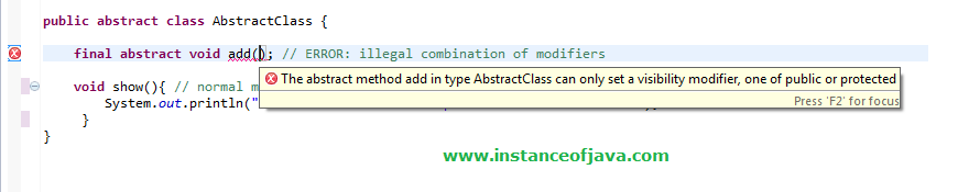 abstract class interview programs