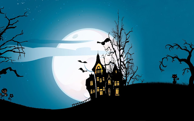 Halloween full moon hd wallpapers images pics for Iphone and Android