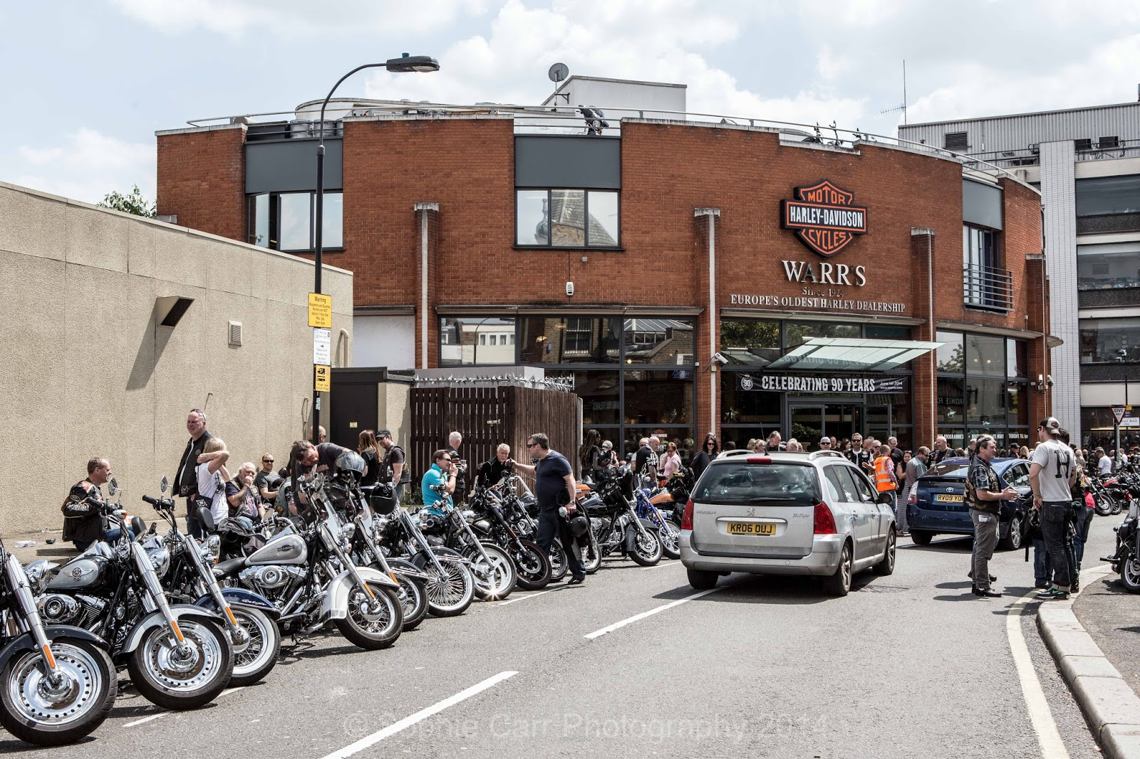 sophie carr's photo blog: celebrating 90 years at warr's harley