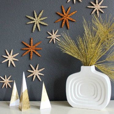 Turn clothespins into snowflakes!