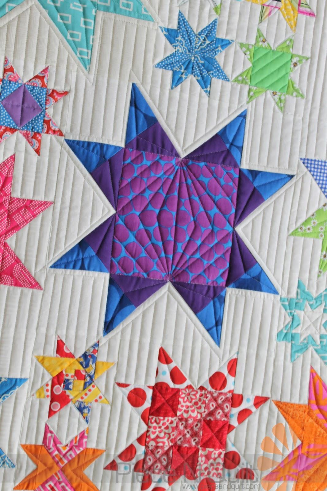Piece N Quilt: Modern Star Quilt - Custom Machine Quilting by ... : natalia bonner free motion quilting - Adamdwight.com