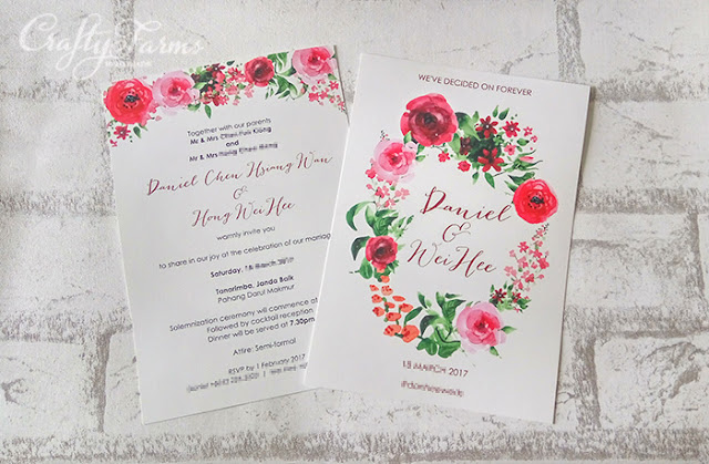 Burgundy Red Floral Wedding Invitation Card Printing