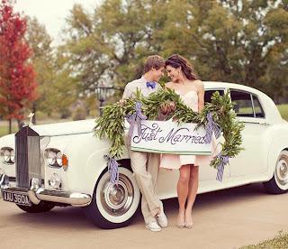 Cuplu proaspăt căsătorit - sau cel puţin aşa se pare - imaginea preluată de pe site-ul thebridaldetective.com
