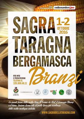 Sagra della Polenta Taragna Bergamasca 1 - 2 ottobre Branzi (BG)