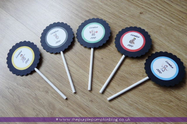 Olympic Rings Cupcake Toppers